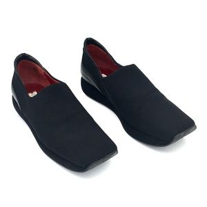 Donald Pliner Fitted Sock Loafers Wedge Stretch